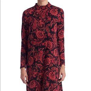 AGB Printed Shift Paisley Dress